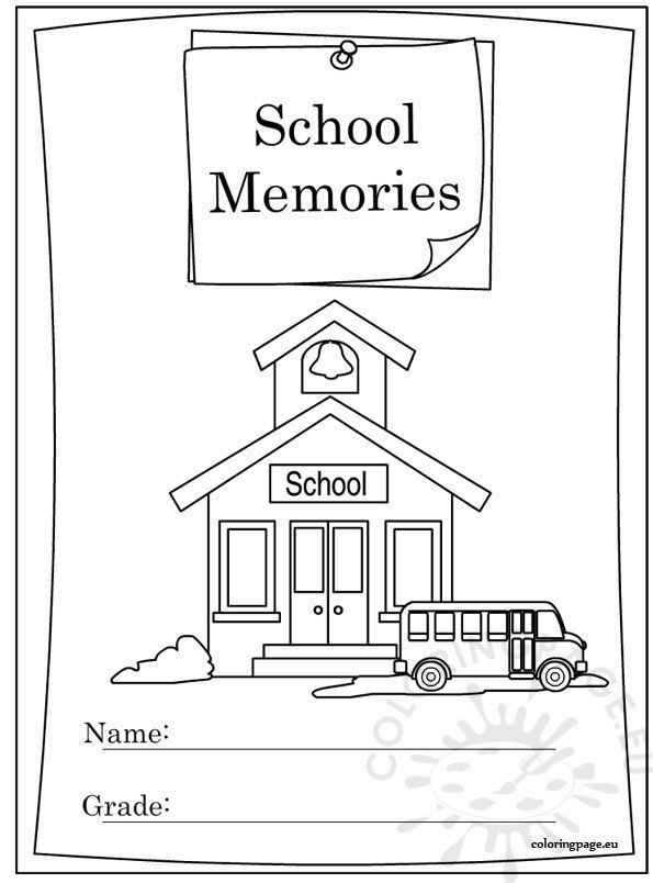 End of School Year Memory Book coloring