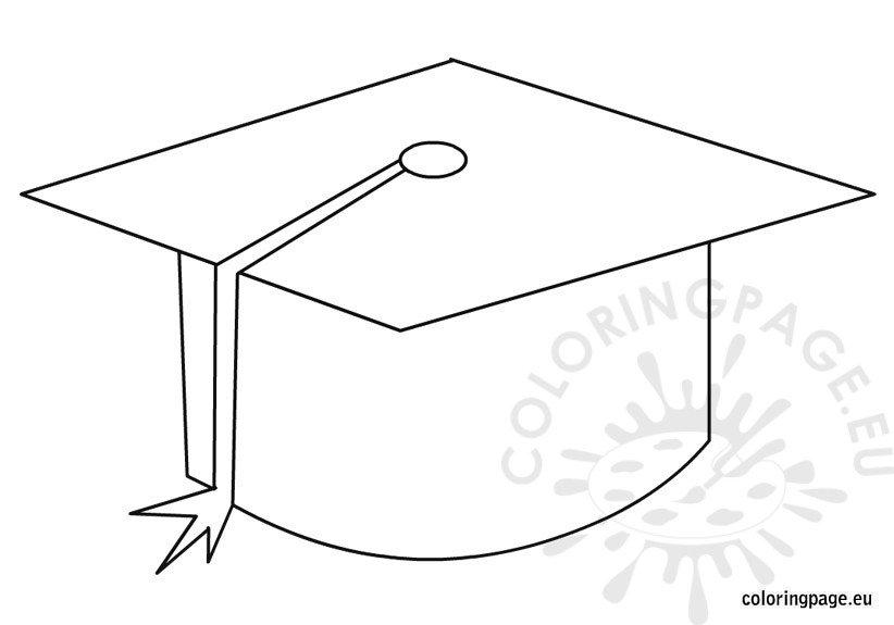 graduation hat Colouring Pages