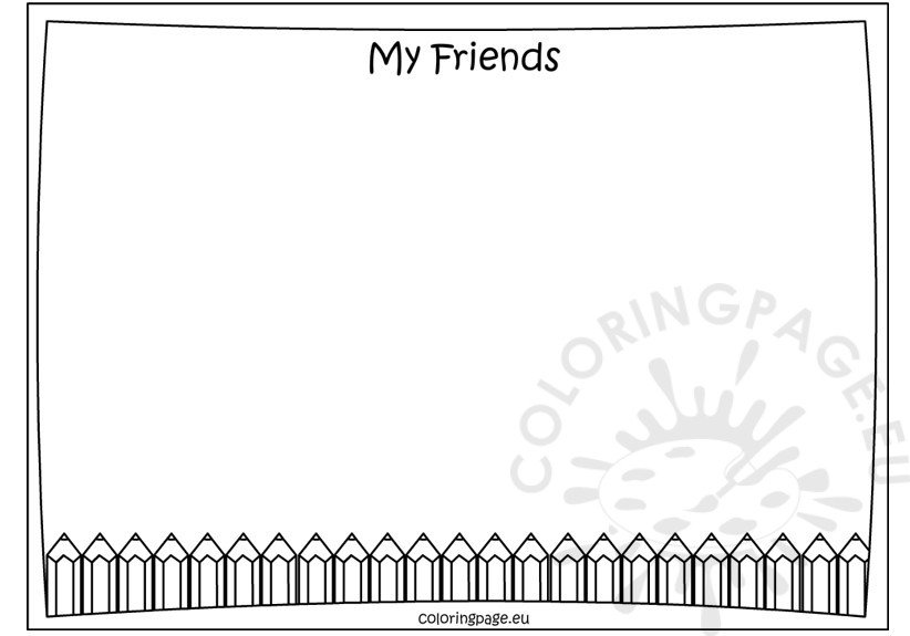 Memory Book – My friends coloring page