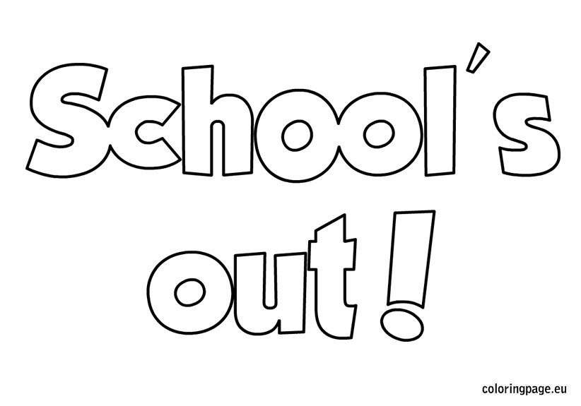 School's out coloring sheet