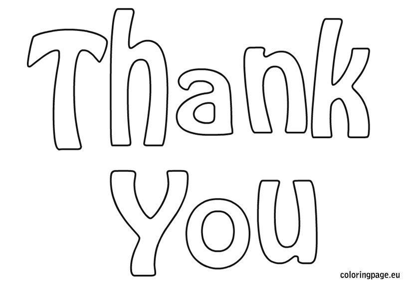 Thank you coloring page