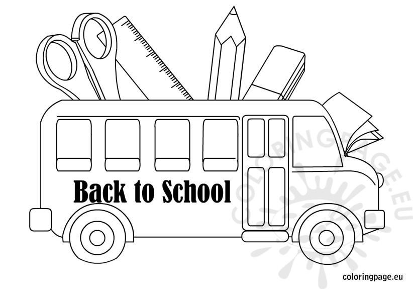 Back to School coloring – School Bus