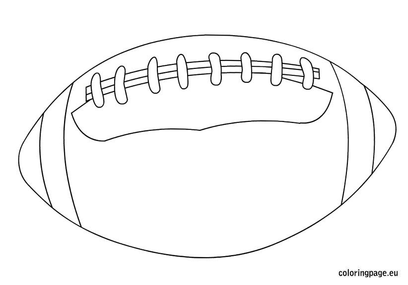 Rugby Ball coloring page