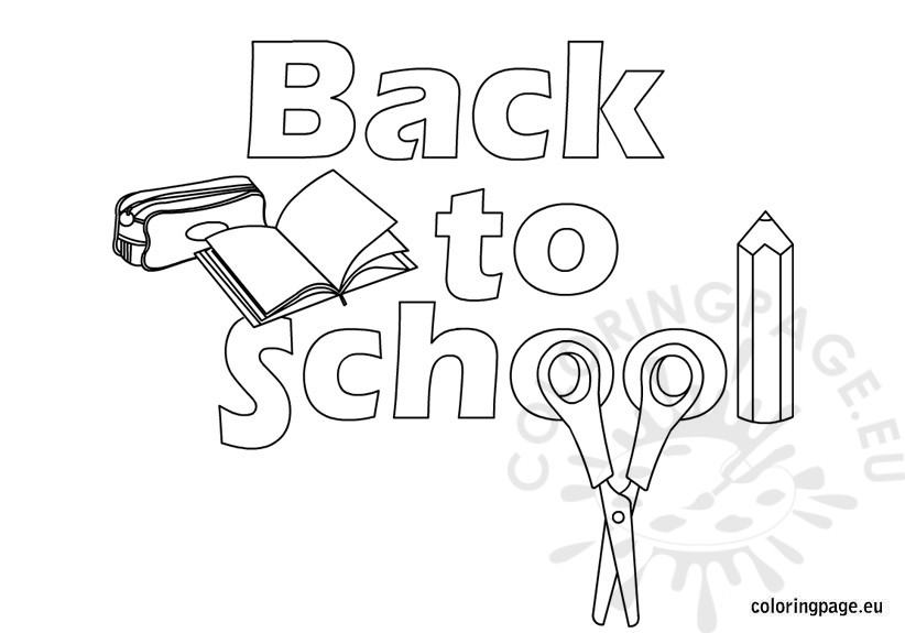 Back to school coloring picture