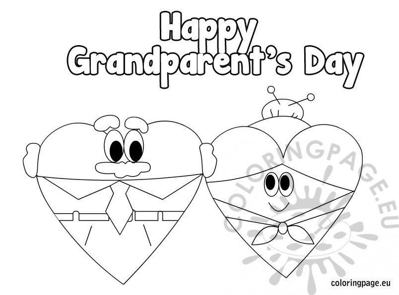 Happy grandparent's day coloring sheets
