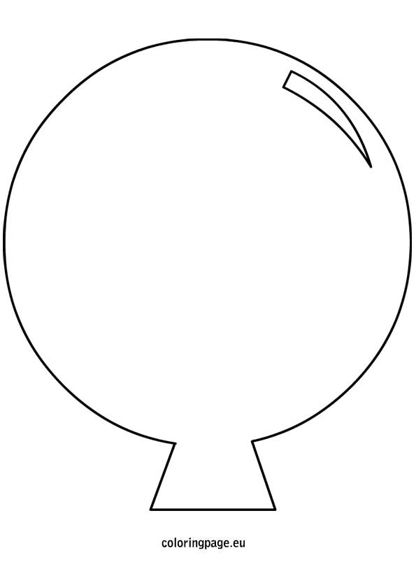 Balloon Template Cut Out