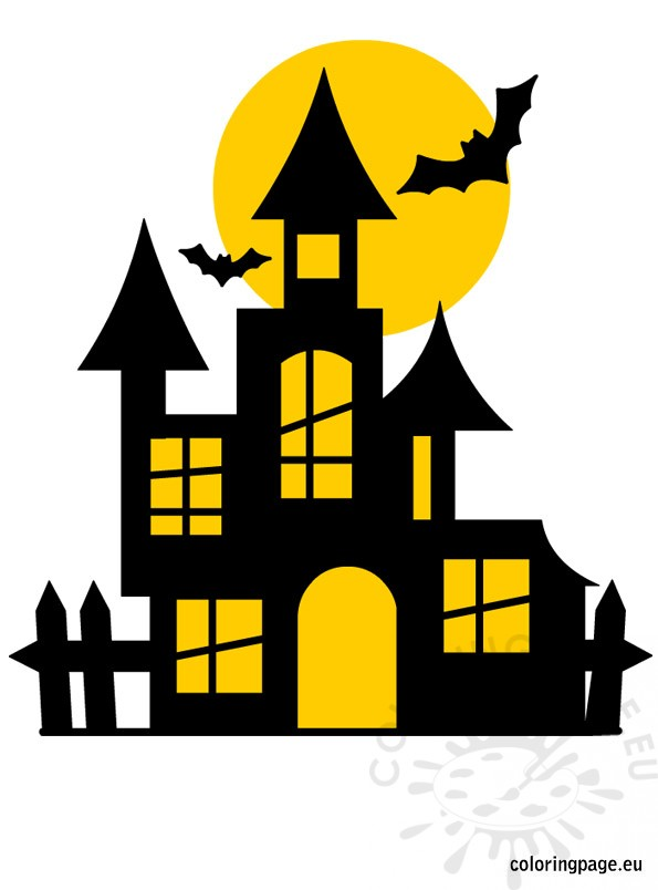 Free Halloween Castle Coloring Page