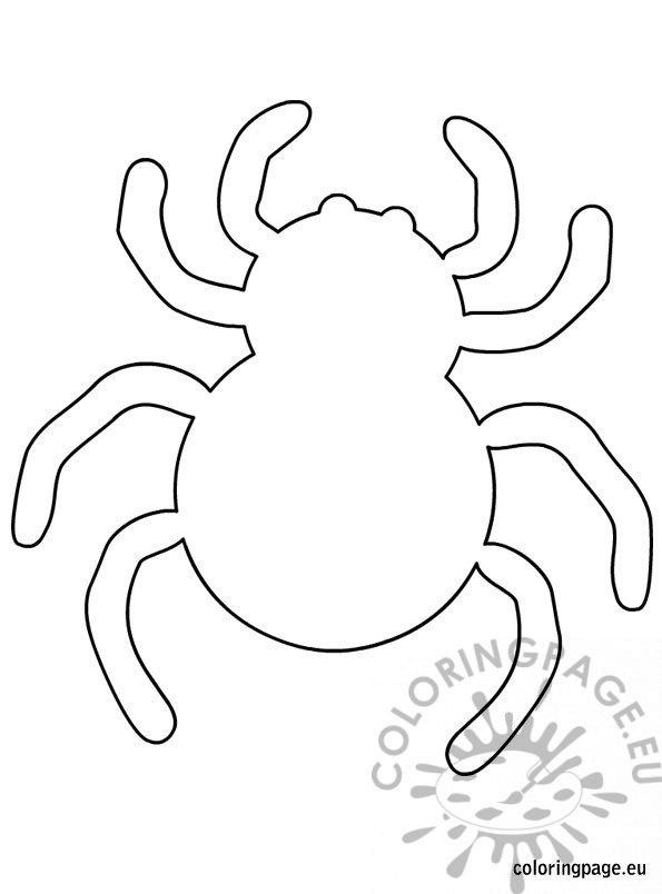Spider halloween template