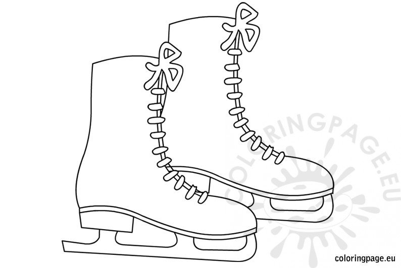 Coloring Sheets for Kids Ice skates - Coloring Page