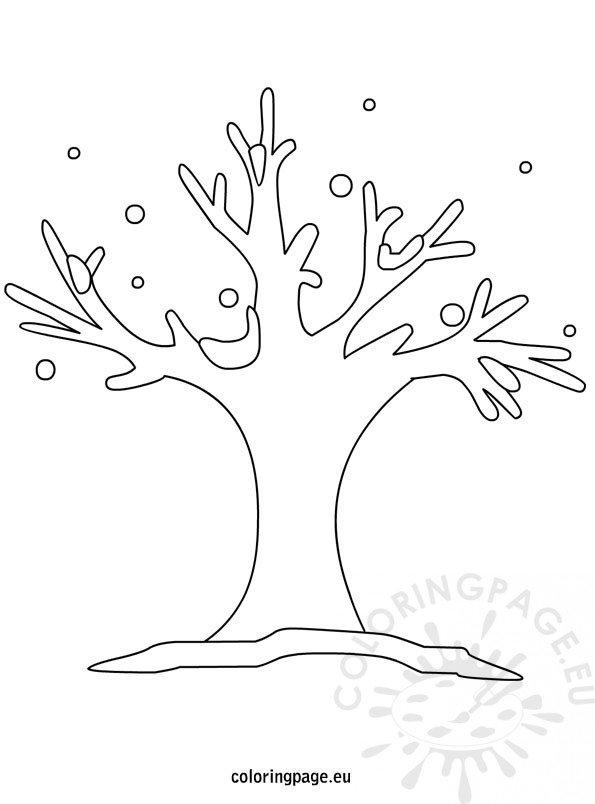 Winter Tree Outline Clip Art