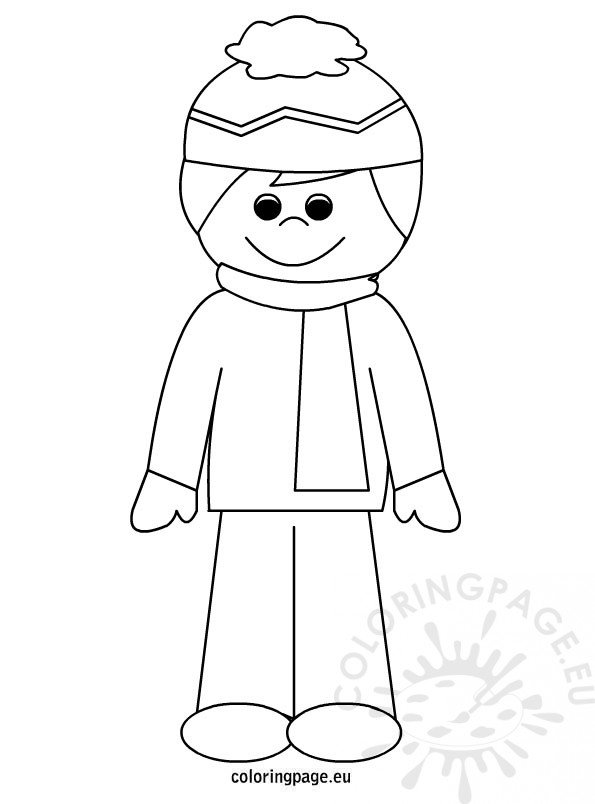 Boy in winter outfit