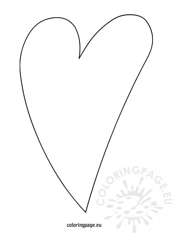 Elongated Heart Template Coloring Page