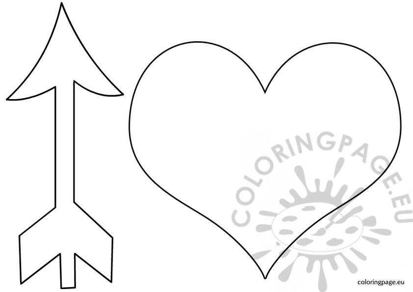 Heart with arrow template