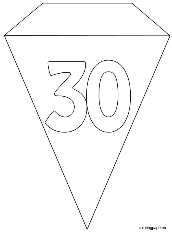 30th Party Flag Banner Template