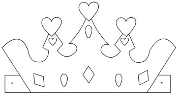 Paper princess crown template | Coloring Page