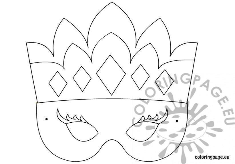 Princess mask template