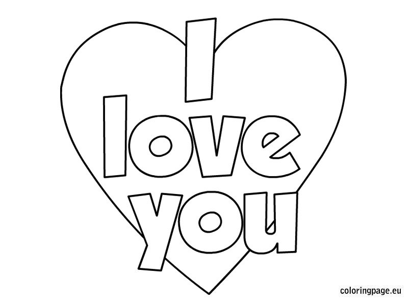 Valentines day i love you coloring page coloring page, coloring pages say i love you