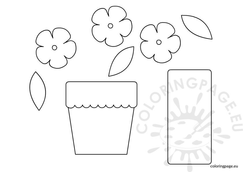 Paper Flower Pot Template
