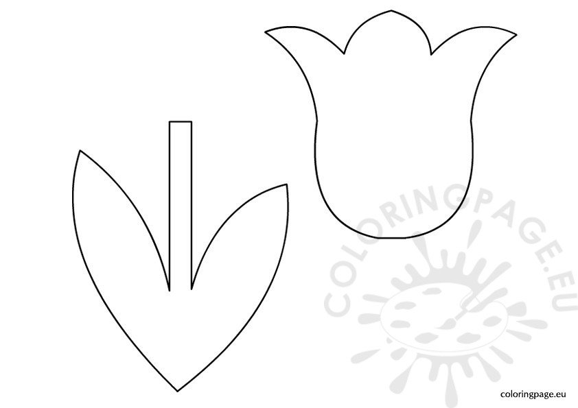Tulip Patterns To Cut Out