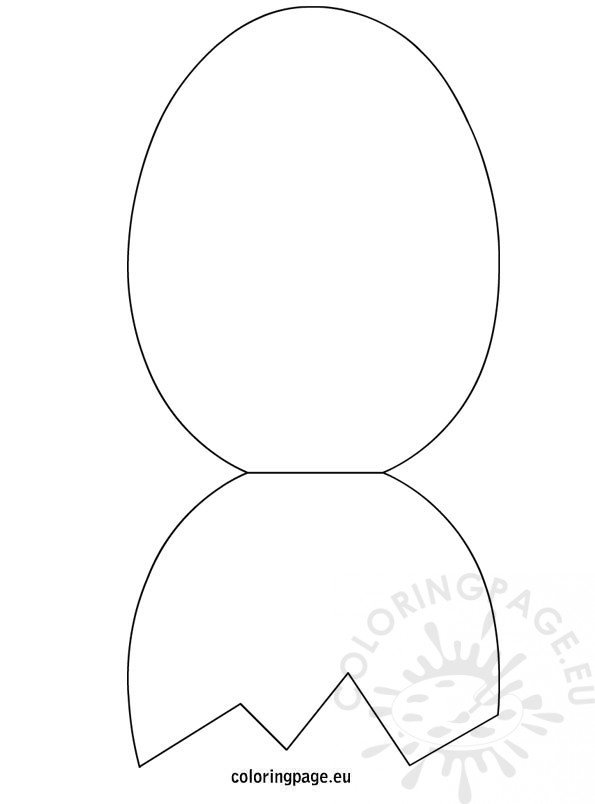 Easter Egg Foldable Card Template