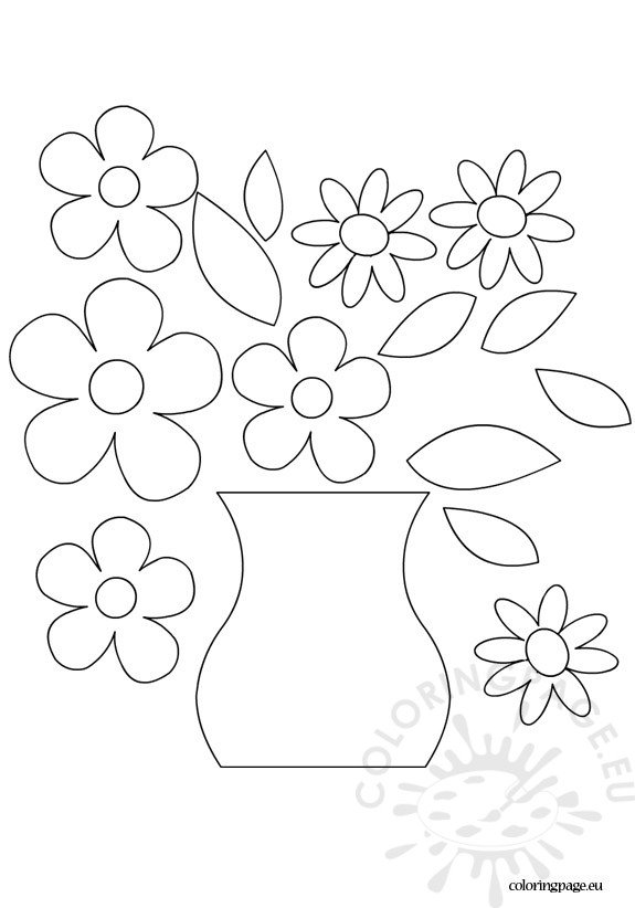 Flower vase template