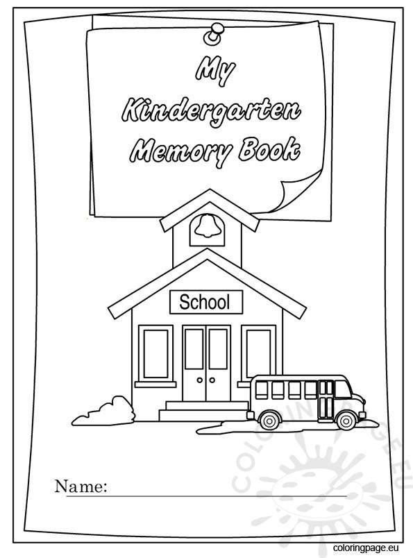 Kindergarten Memory Book free
