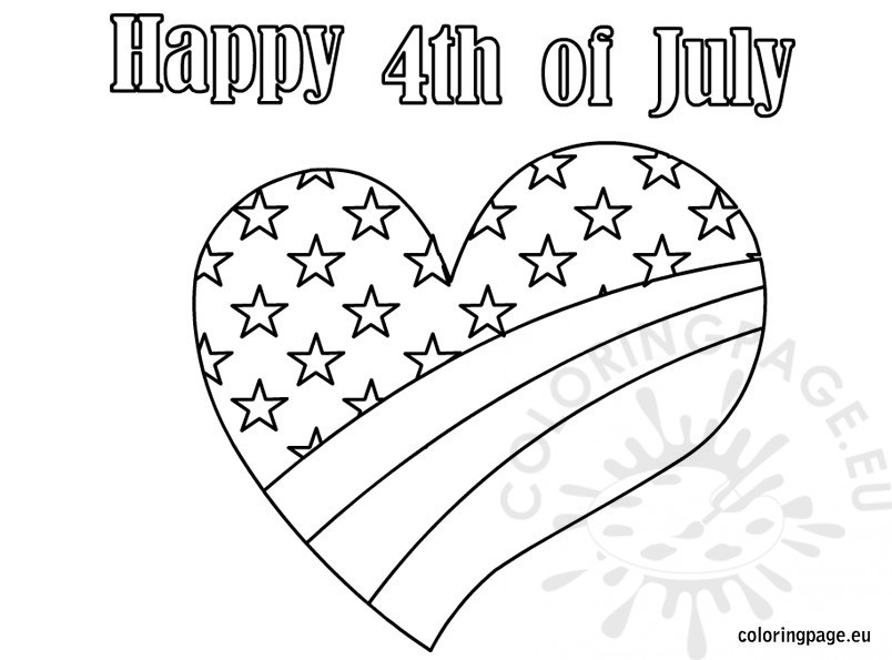 Happy Fourth Of July Coloring Pages