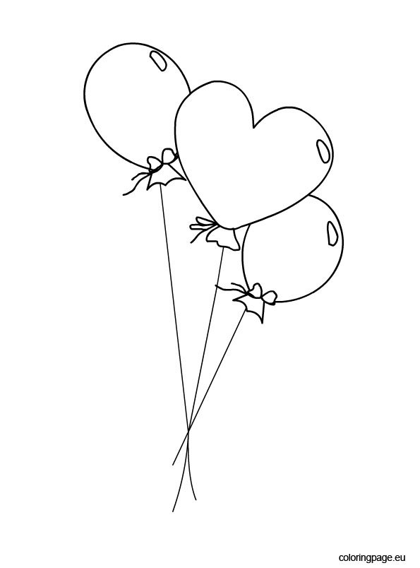 Balloons coloring picture