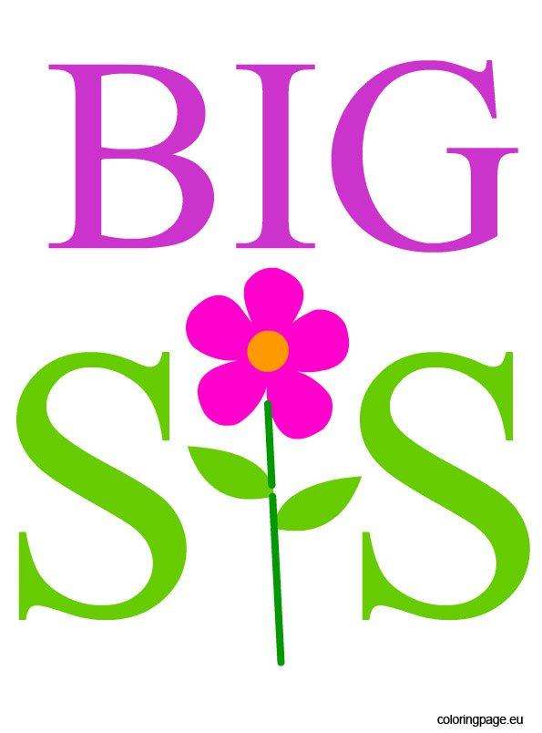 big sis – coloring page