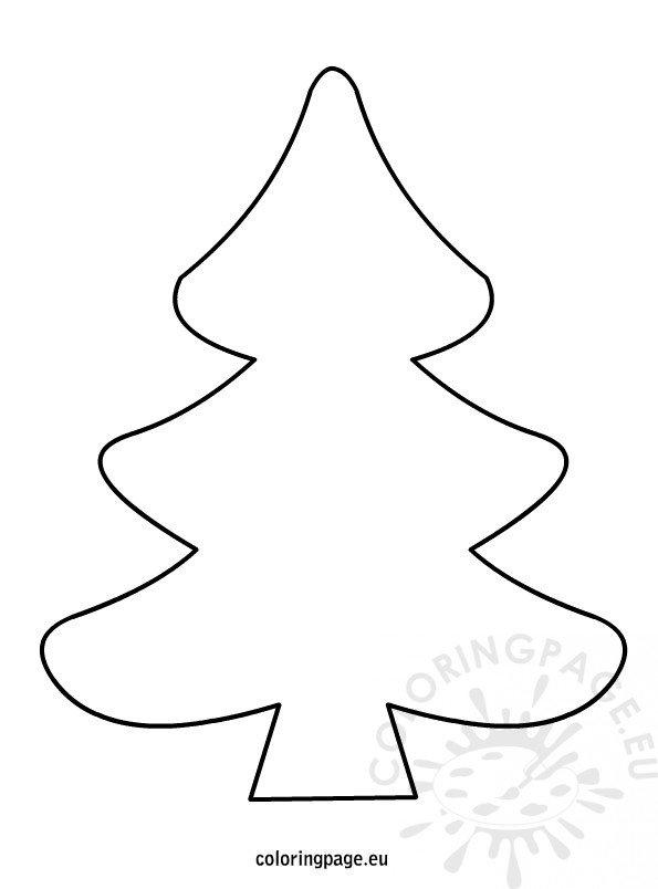 Christmas tree black and white