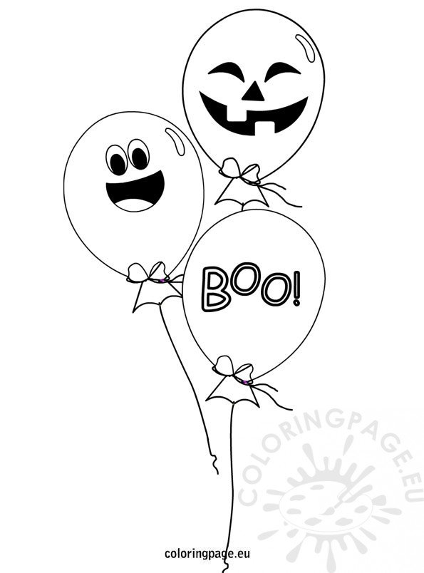 Halloween Balloons coloring page