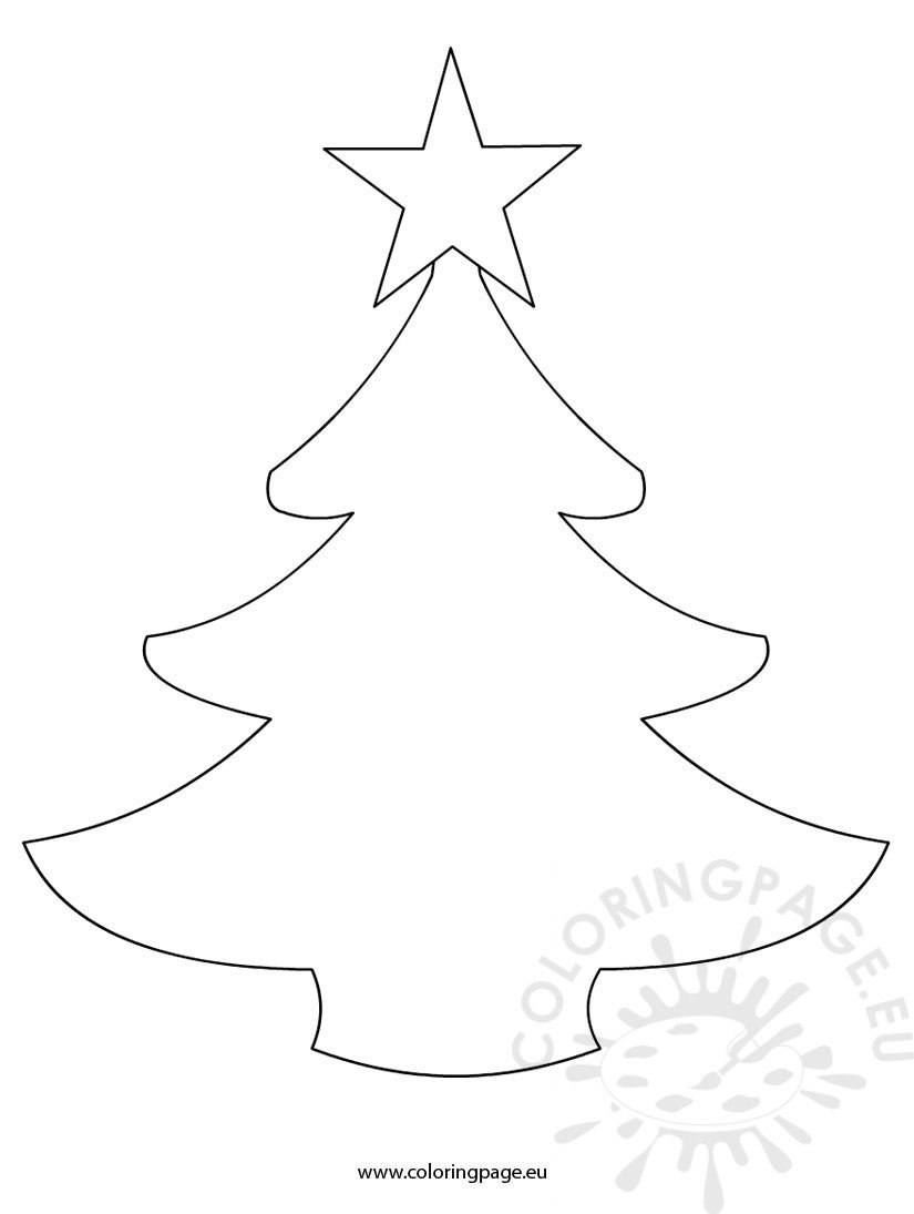 Simple Christmas tree template
