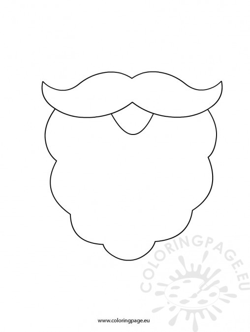 Santa Beard Template Printable