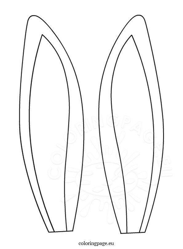 Hare ears template