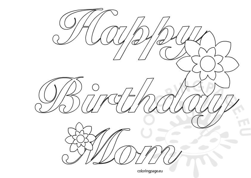 Happy Birthday Mom printable