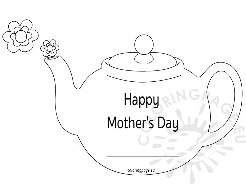 Teapot Coloring Page Crafts Coloring Pages