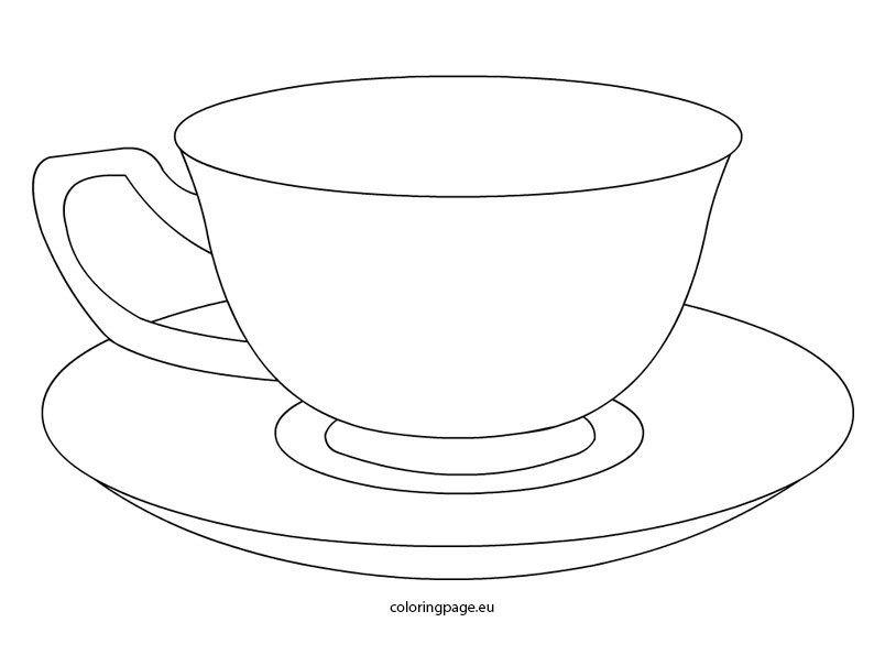 tea cup – coloring page