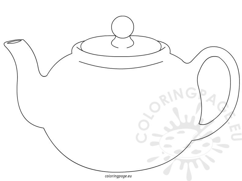 Teapot coloring pages for kids