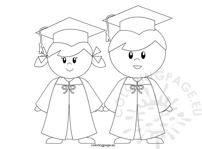 Kindergarten Graduation coloring page for preschool ... | colouring pages for preschool
