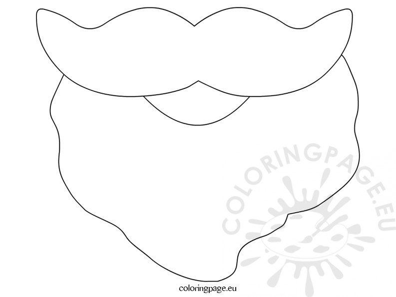 Santa Beard Template Printable