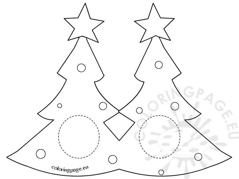 Christmas Craft – Christmas Tree mask