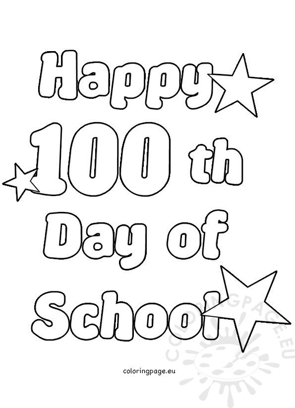 """Search Results for """"Happy 100th Day Coloring Page"""