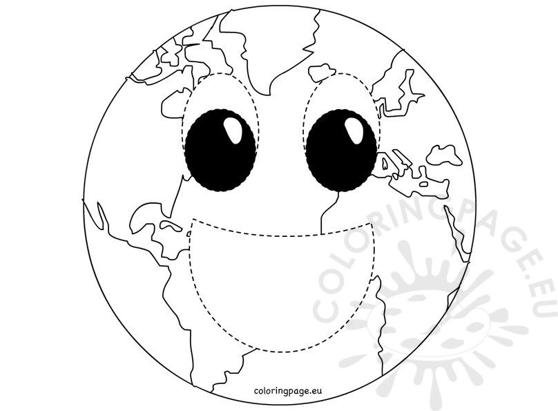 Earth Mask coloring page