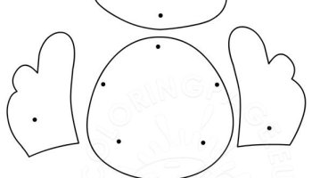 Preschool Easter Craft Coloring Page