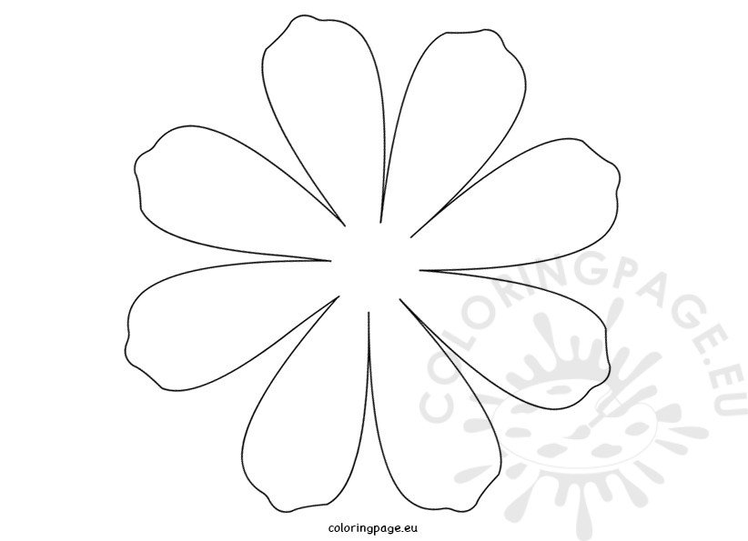 Printable Flower Daisy 8 petal