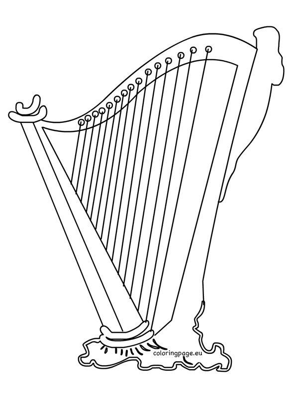 Irish Harp Clipart St Patrick's Day