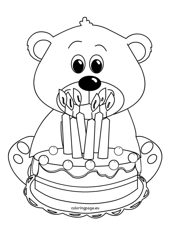 Cute teddy bear coloring picture