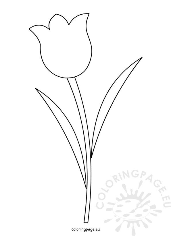 Tulip Flower Template Printable