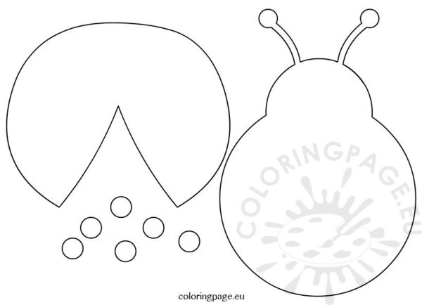 ladybug template cut outs coloring