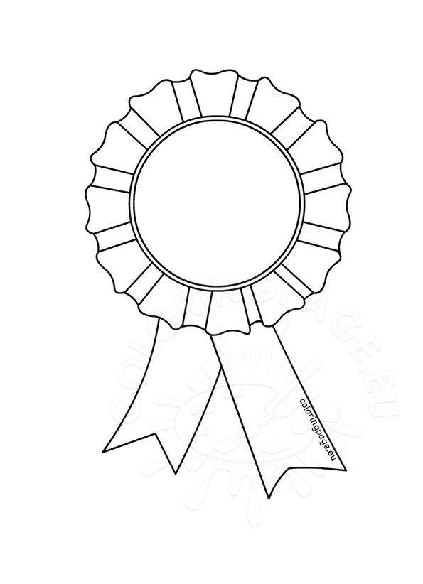 Award rosette template